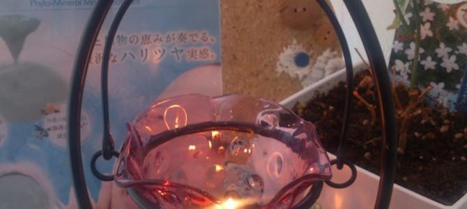 キャンドルランプの灯り
